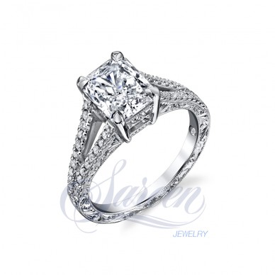 Sareen Handcarved Diamond Ring
