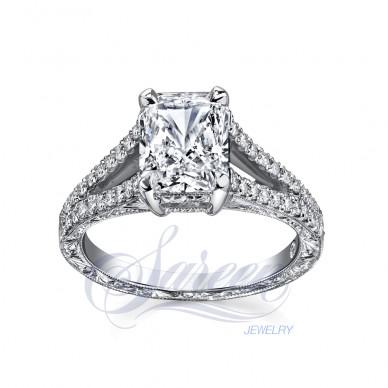 Sareen Handcarved Diamond Ring