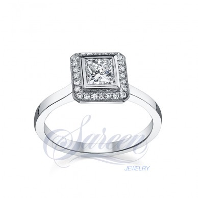 Sareen Bezel Collection Ladies Diamond Ring