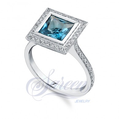 Sareen Colored Ladies Diamond Ring