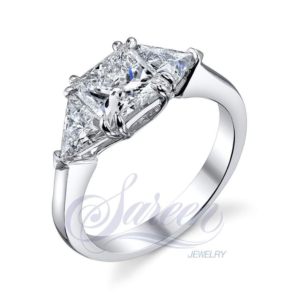 Handmade 3-Stone Rings Ladies Diamond Ring