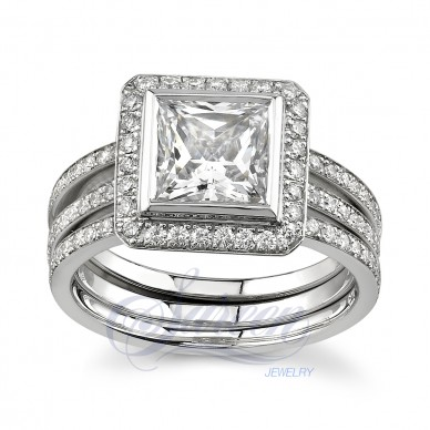 Sareen Matching Set Rings Ladies Diamond Ring