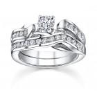 Sareen Matching Set Rings Ladies Diamond Ring