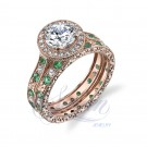 Sareen Bezel Matching Band Ladies Diamond Ring