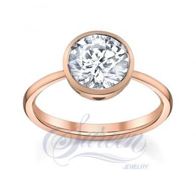 Luseen Bezel Collection Ladies Diamond Ring