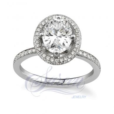 Tulip Ladies Diamond Ring