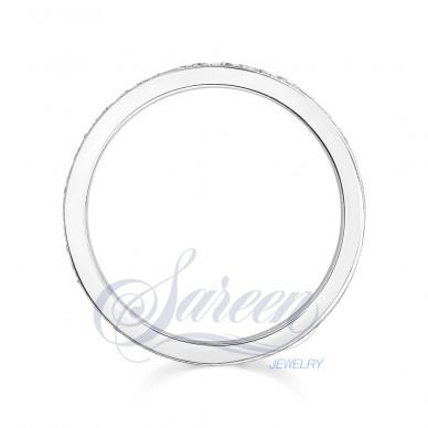 Sareen Bezel Matching Band Ladies Diamond Ring