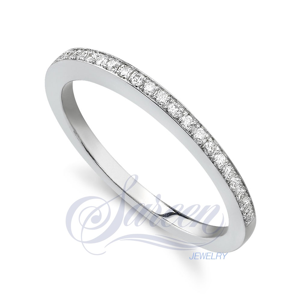engagement bridal wedding thin set and ring product cathedral band tall bands diamond
