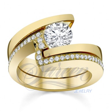 Sareen Tension Matching Set Ladies Diamond Ring