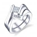 Sareen Tension Matching Set Ladies Diamond Ring