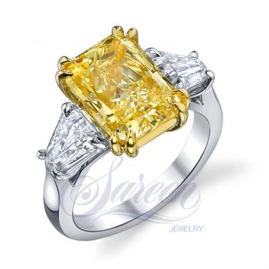 Sareen Handmade 3-Stone Rings Ladies Diamond Ring